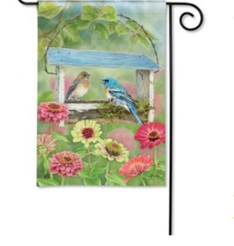 GARDEN FLAG FEEDER FRIENDS