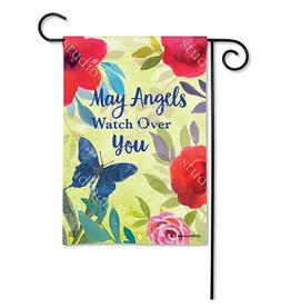 MAGNET WORKS LTD GARDEN FLAG ANGELS KEEP WATCH