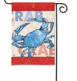 GARDEN FLAG NAUTICAL CRAB