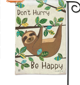GARDEN FLAG HAPPY SLOTH