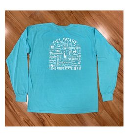 WHERE LIFE TAKES YOU LLC DELAWARE UNISEX LONG SLEEVE SHIRT CHALKY MINT