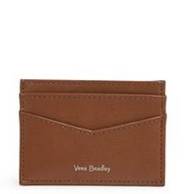 VERA BRADLEY Carryall RFID Slim Card Case Classic Mocha