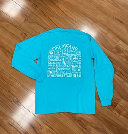 WHERE LIFE TAKES YOU LLC DELAWARE UNISEX LONG SLEEVE SHIRT  LAGOON