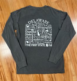 WHERE LIFE TAKES YOU LLC DELAWARE UNISEX LONG SLEEVE SHIRT PEPPER