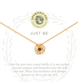 "SPARTINA Sea La Vie Necklace 18"" Just Be/Sea Urchin Gold"