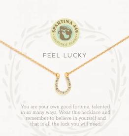 "SPARTINA Sea La Vie Necklace 18"" Feel Lucky/Horseshoe"