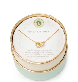 SPARTINA Sea La Vie Necklace 18'' Unbreakable/Double Rings gold