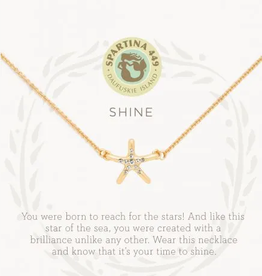 "SPARTINA Sea La Vie Necklace 18"" Shine/starfish gold"
