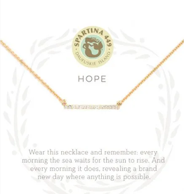 "SPARTINA Sea La Vie Necklace 18"" Hope/Horizon gold"