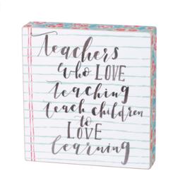 BOX SIGN LOVE TEACHING