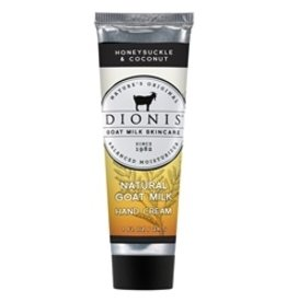 DIONIS INC Honeysuckle & Coconut Goat Milk Hand Cream, 1 oz. tube