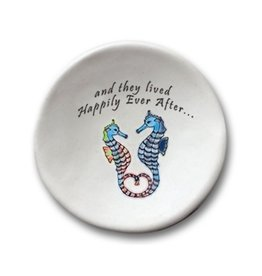 AUGUST CERAMICS ROUND DISH SEAHORSES: AND THEY LIVED HAPPILY...
