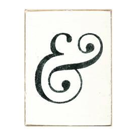 RUSTIC MARLIN Rustic Block Ampersand