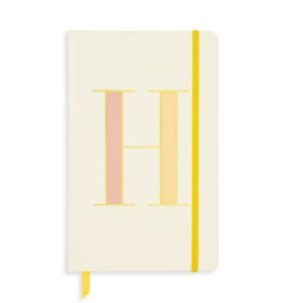 INITIAL TAKE NOTE LEATHERETTE NOTEBOOK, H