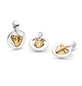 PANDORA Mom's Golden Heart Shine dangle