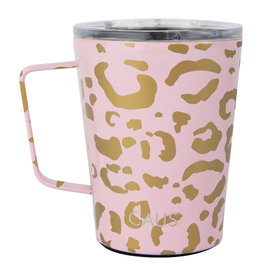 COFFEE TUMBLER WITH HANDLE LEOPARD PET