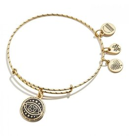 ALEX AND ANI Charm Bangle Embossed Panited Evil Eye Gold