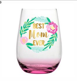 SLANT COLLECTIONS 20oz STEMLESS BEST MOM EVER PINK