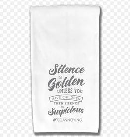 WHERE LIFE TAKES YOU LLC SILENCE IS GOLDEN KITCHEN TOWEL