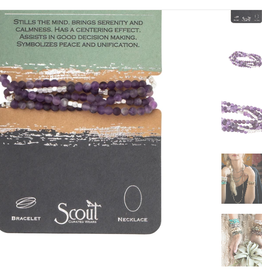 SCOUT CURATED WEARS Amethyst Stone of Protection