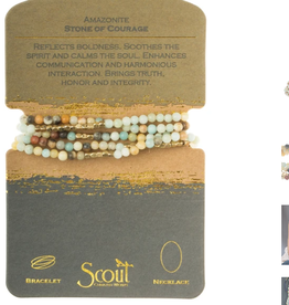 SCOUT CURATED WEARS STONE OF COURAGE AMAZONITE WRAP BRACELET