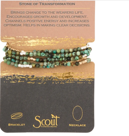 SCOUT CURATED WEARS STONE OF TRANSFORMATION AFRICAN TURQUOISE - WRAP BRACELET