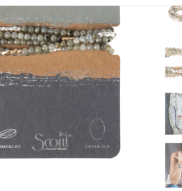 SCOUT CURATED WEARS STONE OF MAGIC LABRADORITE - WRAP BRACELET