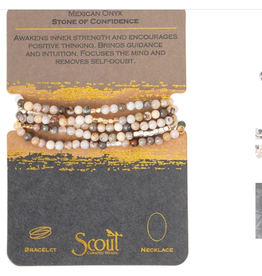 SCOUT CURATED WEARS Stone of Confidence Mexican Onyl Wrap Bracelet