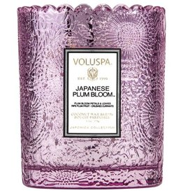 VOLUSPA 6.2oz. Boxed Jar Candle VOLUPSA Japanese Plum Bloom Scalloped Edge