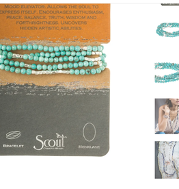SCOUT CURATED WEARS STONE OF THE SKY TURQUOISE WRAP BRACELET