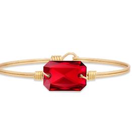 LUCA & DANNI Bangle Bracelet DYLAN in Scarlet-Regular Brass Tone