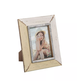 FORESIDE HOME & GARDEN 4X6 BUTTERCREAM PHOTO FRAME