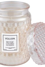 VOLUSPA 18oz. Large Jar Candle w/Lid  Rose Colored Glasses