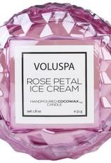 VOLUSPA 1.8oz. Macaron Candle Rose Petal Ice Cream
