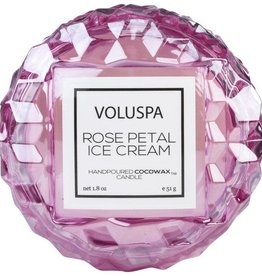 VOLUSPA 1.8oz. Macaron Candle Rose Petal Ice Cream