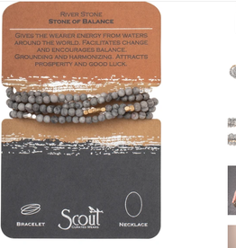 SCOUT CURATED WEARS STONE OF BALANCE RIVER STONE - RIVER STONE WRAP BRACELET