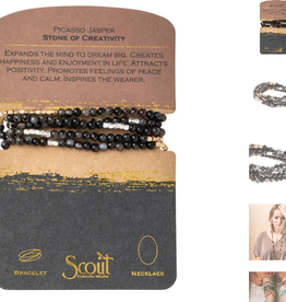 SCOUT CURATED WEARS Stone of Creativity Picasso Jasper Wrap Bracelet
