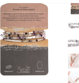 SCOUT CURATED WEARS Stone of Brilliance Flourite Wrap Bracelet