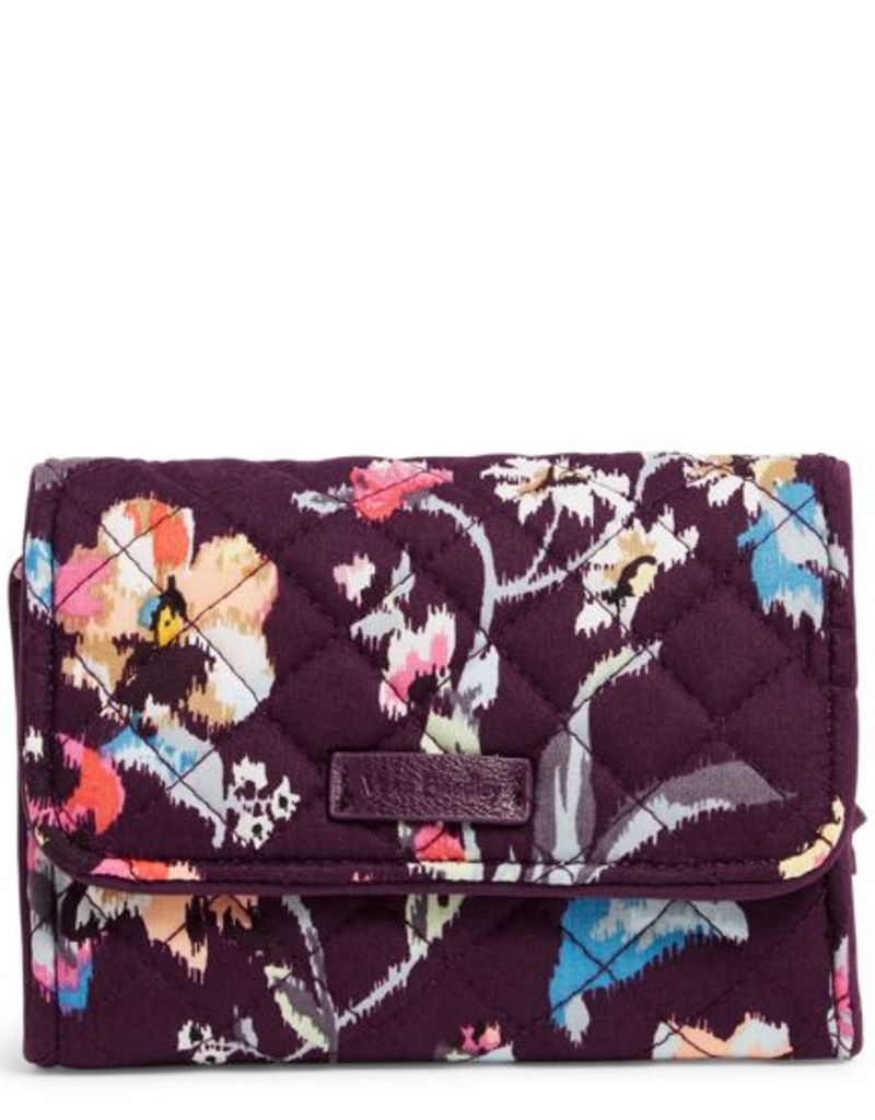 VERA BRADLEY Iconic RFID Riley Compact Wallet Indiana Rose
