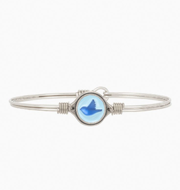 LUCA & DANNI Bangle Bracelet BLUEBIRD- Regular Silver Tone