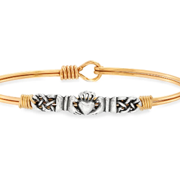 LUCA & DANNI Bangle Bracelet CLADDAGH-Regular Brass Tone