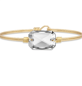 LUCA & DANNI Bangle Bracelet DYLAN in Aurora Borealis-Regular Brass Tone