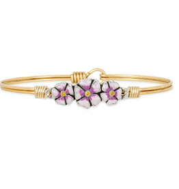 LUCA & DANNI Bangle Bracelet CHERRY BLOSSOM BRASS: LIVE LIFE IN FULL BLOOM-Regular Brass Tone