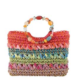 CAPPELLI STRAWORLD, INC Jeweled Handle Bag Orange