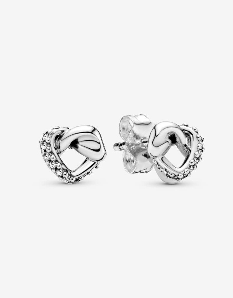 Pandora Knotted Heart Sliver Stud Earrings Heart And Home