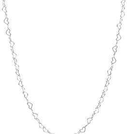 """PANDORA Joined Hearts Sterling Silver Necklace, 23.6"""""""