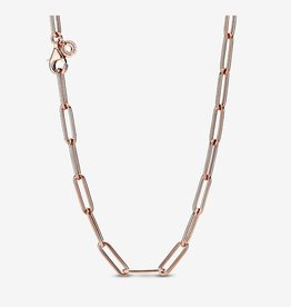 "PANDORA Long Link Cable Chain Necklace 17.7"" Pandora Rose"