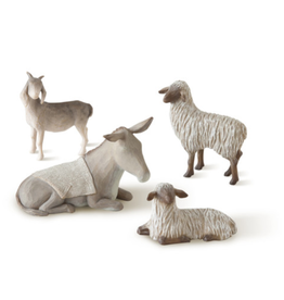 Willow Tree Figurines-Sheltering Nativity Animals Set of 4