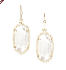 KENDRA SCOTT Dani Earring Gold Ivory Mother of Pearl
