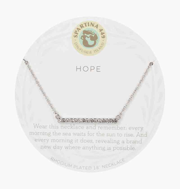 "SPARTINA Sea La Vie Necklace 18"" Hope/Horizon Silver"